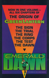 Verso de Green Lantern: Emerald Dawn (1989) -INT- Green Lantern: Emerald Dawn
