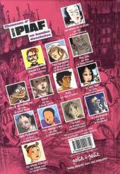 Verso de Chansons en Bandes Dessinées  -a07- Chansons d'Edith Piaf en bandes dessinées
