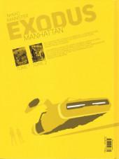 Verso de Exodus Manhattan -1- Tome 1