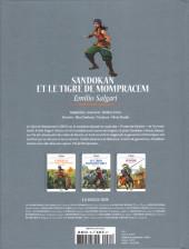 Verso de Les grands Classiques de la littérature en bande dessinée (Glénat/Le Monde) -35- Sandokan et le Tigre de Monpracem