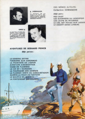 Verso de Bernard Prince -2a- Tonerre sur coronado