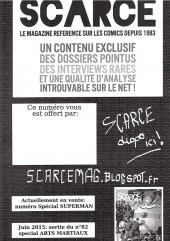 Verso de Free Comic Book Day 2015 (France) - Scarce
