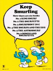 Verso de SMURFS (les Schtroumpfs en anglais, Dupuis) -6- Romeo and Smurfette
