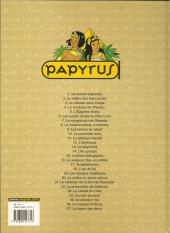Verso de Papyrus -11c04- Le pharaon maudit