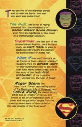 Verso de Incredible Hulk vs. Superman (1999) -OS- Incredible Hulk vs. Superman: Double lives