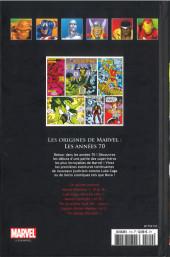 Verso de Marvel Comics - La collection (Hachette) -110XVI- Les Origines de Marvels - Les Années 70