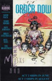 Verso de Kabuki: Masks of Noh (1996) -1- Kabuki: Masks of Noh #1