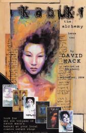 Verso de Kabuki: The alchemy (2004) -1- Kabuki: The alchemy #1