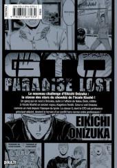 Verso de GTO - Paradise Lost -10- Vol. 10