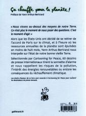 Verso de Cartooning for Peace - Ça chauffe pour la planète!