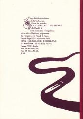 Verso de Le cercueil de course - Tome a2000