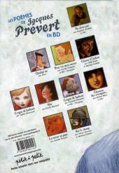 Verso de Poèmes en bandes dessinées -a08- Les poèmes de Jacques Prévert en BD