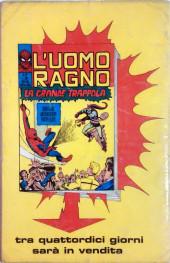 Verso de L'uomo Ragno (Editoriale Corno) V1 -18- La Minaccia in Agguato
