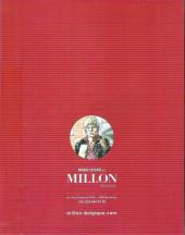 Verso de (Catalogues) Ventes aux enchères - Millon - Millon - Bandes dessinées - 24 juin 2018 - Bruxelles