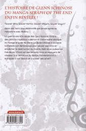 Verso de Seraph of the End -Roman4- Glenn Ichinose - La catastrophe de ses 16 ans - Tome 4