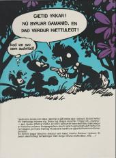 Verso de Spirou et Fantasio (en langues étrangères) -17Islandais- Svamlad í söltum sjó