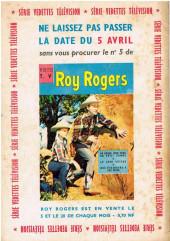 Verso de Roy Rogers, le roi des cow-boys (3e série - vedettes T.V) -4- (sans titre)