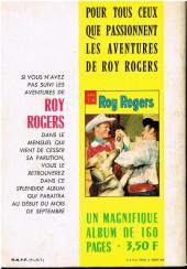 Verso de Roy Rogers, le roi des cow-boys (3e série - vedettes T.V) -REC03- Album N°3 (N°11 à N°15)
