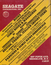 Verso de Eclipse magazine (1981) -3- Eclipse magazine #3