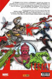 Verso de Marvel Legacy - Avengers (Marvel France - 2018) -1- À la recherche de Tony Stark