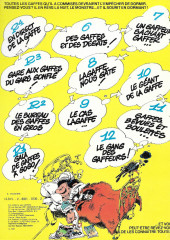 Verso de Gaston -11c1981- Gaffes, bévues et boulettes