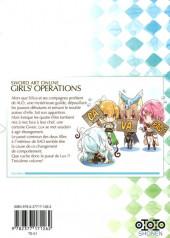 Verso de Sword art online - Girls' Ops -3- Tome 3