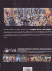 Verso de Ils ont fait l'Histoire -21FL- Robespierre