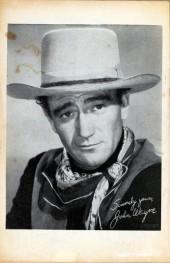 Verso de John Wayne Adventure Comics (1949) -3- The Claws of Death