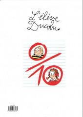 Verso de L'Élève Ducobu -10b2013'- Miss dix sur dix