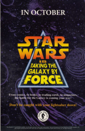 Verso de Classic Star Wars: The Early Adventures (1994) -1- Classic Star Wars: The Early Adventures #1