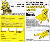Verso de Tintin - Publicités -11Nesquik- Le secret de la Licorne