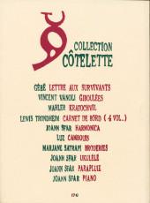 Verso de Carnet de bord -4- 2002-2003