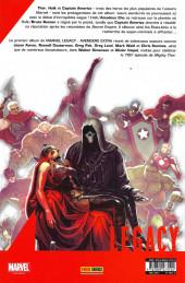 Verso de Marvel Legacy - Avengers Extra (Marvel France - 2018) -1- La Patrie des braves