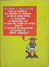 Verso de Les aventures de l'équipe de France! -3- Michel Hidalgo et les 16 du mundial