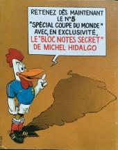 Verso de Les aventures de l'équipe de France! -4- Henri Michel Story