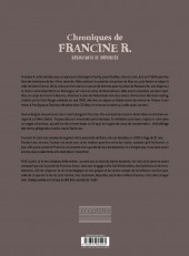 Verso de Chroniques de Francine R., résistante et déportée