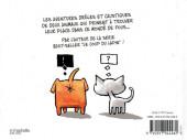 Verso de Comme chien et chat - Comme chien et chat. Deux animaux, une maison. Pas d'issue.