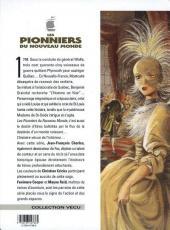 Verso de Les pionniers du Nouveau Monde -5c1999- Du sang dans la boue