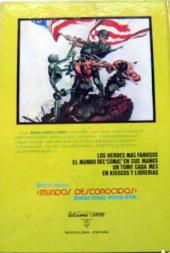Verso de Antología del cómic (Vértice - 1977) -1- Conan el bárbaro