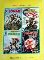 Verso de Antología del cómic (Vértice - 1977) -5- Conan el bárbaro