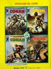 Verso de Antología del cómic (Vértice - 1977) -8- Conan el bárbaro