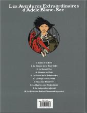 Verso de Adèle Blanc-Sec (Les Aventures Extraordinaires d') -7c18- Tous des monstres !