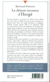 Verso de (AUT) Hergé -37a2011- Le démon inconnu d'Hergé (ou le génie de Georges Remi)