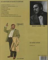 Verso de Blake et Mortimer -3b93- Le secret de l'espadon - tome 3