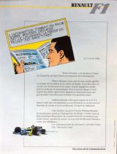 Verso de La rage de gagner (Renault F1) -02- San Marino