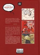 Verso de Chansons en Bandes Dessinées  -a2018- Chansons de Jacques Brel en bandes dessinées
