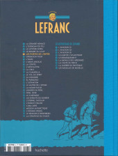 Verso de Lefranc - La Collection (Hachette) -5- Les portes de l'enfer