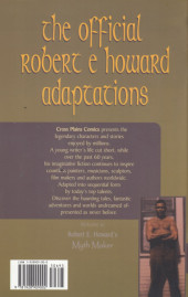 Verso de Robert E. Howard's Myth Maker (1999) - Robert E. Howard's Myth Maker