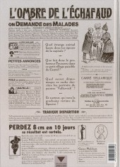 Verso de L'ombre de l'échafaud -2- L'Affaire Dudane