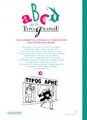 Verso de ABCD de la typographie